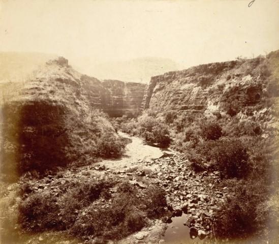 Buddhist Cave XXVI and head of ravine, Ajanta 1|British Library