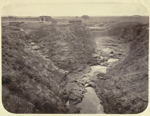 Photograph of a valley at Ajanta taken by Robert Gill in the 1860s|Allardyce Collection - Album of views and portraits in Berar and Hyderabad